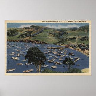 Vista del puerto del istmo póster