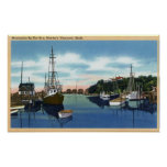 Vista del puerto, Martha's Vineyard Poster