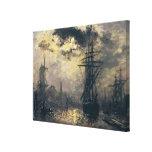 Vista del puerto, o los molinoes de viento adentro impresion de lienzo