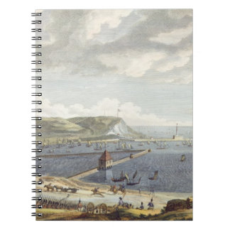 Vista del puerto y de la rada de Boulogne en Libro De Apuntes