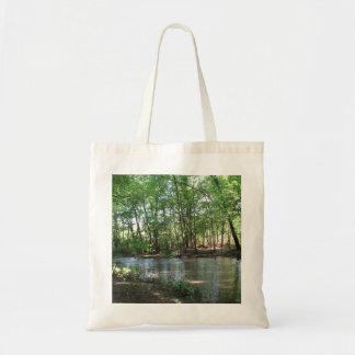 Vista del río bolsa tela barata