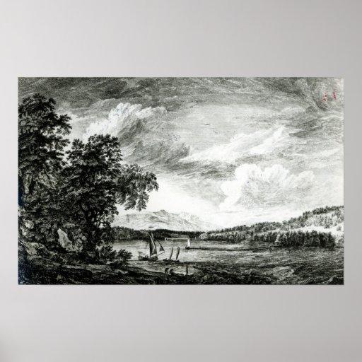 Vista del río del Hudson de Pakepsey Impresiones