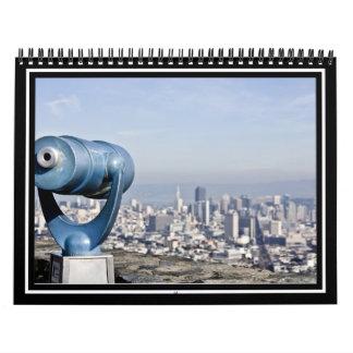Vista del San Francisco (ciudad borrosa) Calendarios De Pared