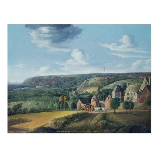 Vista del señorío de Potrel, cerca de Dragey en Postales
