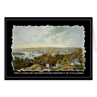 Vista del siglo XIX de Georgetown, Washington DC Tarjeta