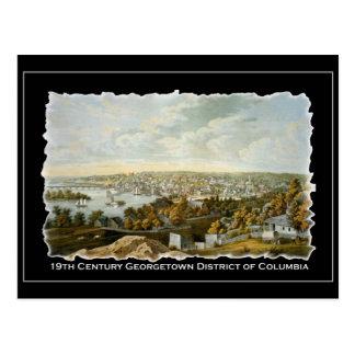 Vista del siglo XIX de Georgetown, Washington DC Postal