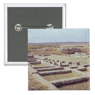 Vista del sitio arqueológico, 1450-1200 A.C. Pin Cuadrado