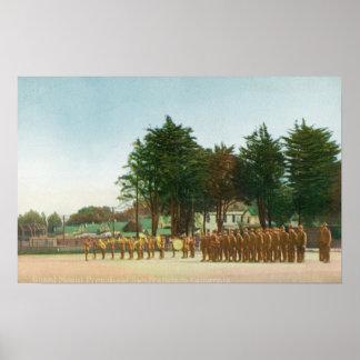 Vista del soporte de guardia Presidio en la formac Posters