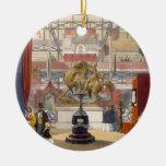 Vista del soporte de los instrumentos musicales de ornamentos de reyes