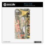 Vista del soporte del hardware de Sheffield y del  Skins Para iPhone 4S