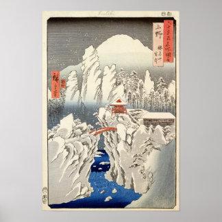Vista del soporte Haruna en la nieve Póster