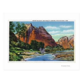 Vista del soporte majestuosa y del aterrizaje del tarjetas postales