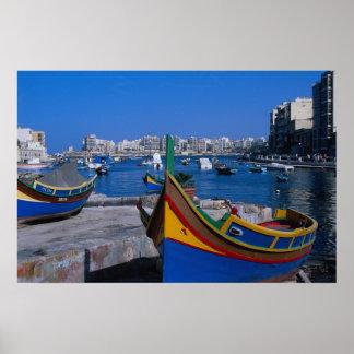 Vista del St. juliana, Malta Póster