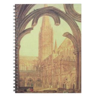 Vista del sur de la catedral de Salisbury del Cloi Libros De Apuntes