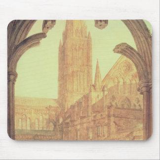 Vista del sur de la catedral de Salisbury del Cloi Tapete De Ratón