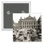 Vista del teatro de la ópera de París, 1890-99 Pin Cuadrado