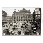 Vista del teatro de la ópera de París, 1890-99 Tarjeta De Felicitación