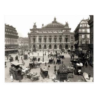 Vista del teatro de la ópera de París 1890-99 Tarjetas Postales