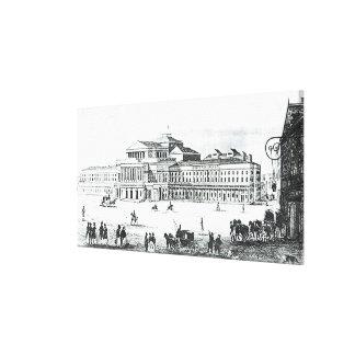 Vista del teatro magnífico, Varsovia Impresion De Lienzo