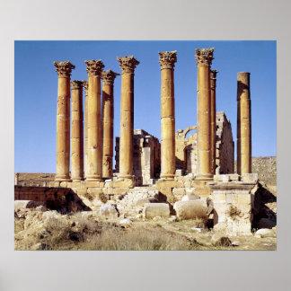 Vista del Templo de Artemisa, ANUNCIO construido c Póster
