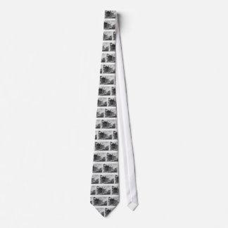 Vista del templo de Cybele en la boca cuadrada Corbatas Personalizadas