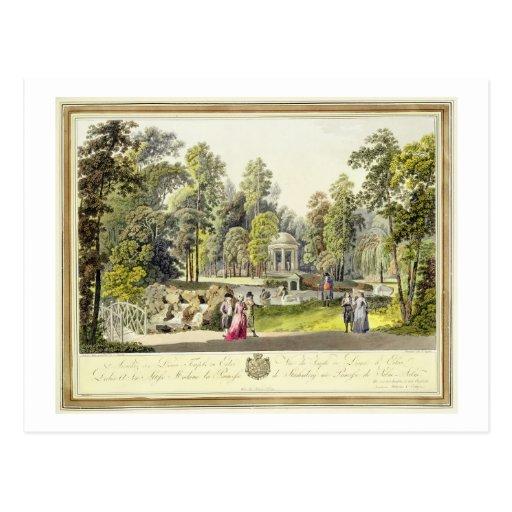 Vista del templo de Diana en Erlaw, grabado cerca Postales