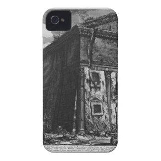 Vista del templo de Fortuna viril por Juan B Case-Mate iPhone 4 Cárcasas