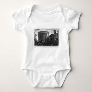 Vista del templo de la sibila en Tivoli por Giova Body Para Bebé