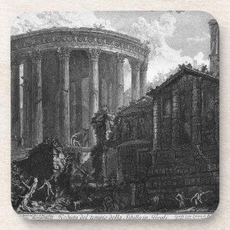 Vista del templo de la sibila en Tivoli por Giova Posavasos
