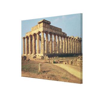 Vista del templo E, c.490-480 A.C. Impresión En Lona
