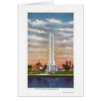 Vista del termómetro gigante de Texaco Tarjeton