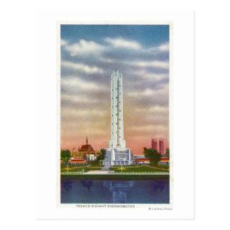 Vista del termómetro gigante de Texaco Postal