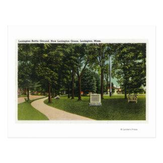Vista del terreno de batalla, ahora verde de postales