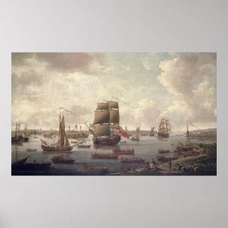 Vista del Thames, 1761 Póster