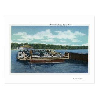 Vista del transbordador del punto y del arrumage postales
