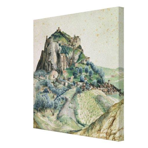 Vista del valle de Arco en el Tyrol, 1495 Impresión De Lienzo