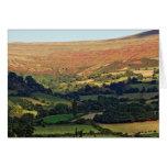 Vista del valle tarjeta de felicitación