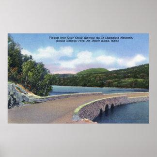 Vista del viaducto de la cala de la nutria, Champl Poster