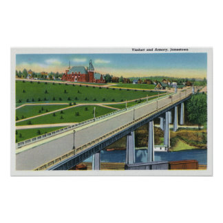 Vista del viaducto y del exterior del arsenal impresiones