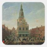 Vista del Weighhouse y del mercado del queso Colcomanias Cuadradas