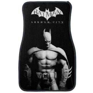 Vista delantera B/W de Batman Alfombrilla De Auto