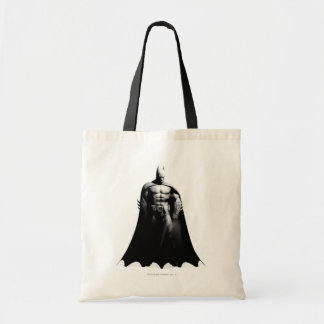 Vista delantera B/W de Batman Bolsa Tela Barata
