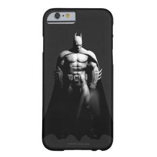 Vista delantera B/W de Batman Funda Barely There iPhone 6