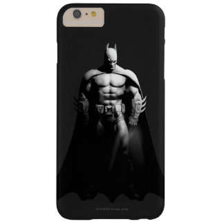 Vista delantera B/W de Batman Funda Barely There iPhone 6 Plus