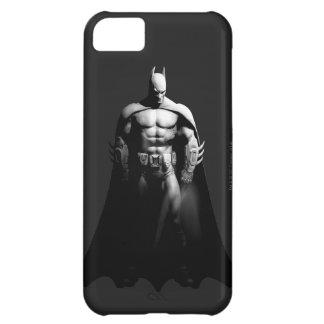 Vista delantera B/W de Batman Funda iPhone 5C