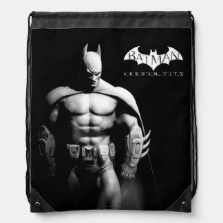 Vista delantera B/W de Batman Mochila