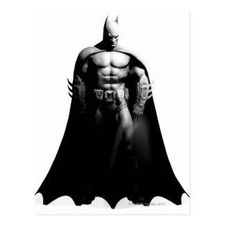 Vista delantera B/W de Batman Tarjeta Postal