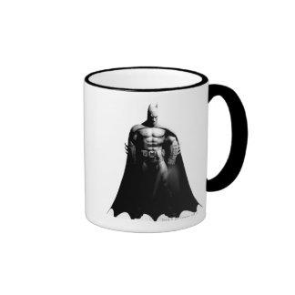 Vista delantera B/W de Batman Taza De Café