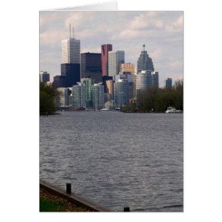 Vista delantera del agua de Toronto de la isla V1  Tarjeta De Felicitación