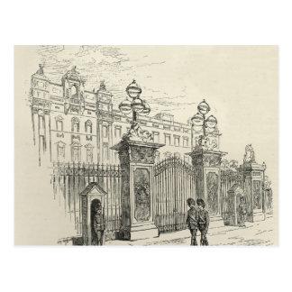 Vista delantera del Buckingham Palace Tarjeta Postal